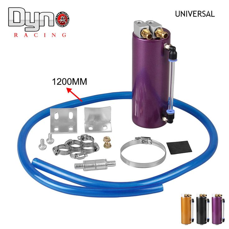 DYNO-Freeshipping 750ML Aluminum Racing Oil Catch Tank/Can Round Can Reservoir Turbo Oil Catch can / Can Catch universal