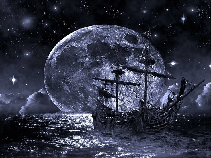 Ghost Pirate Ship Wallpapers Background