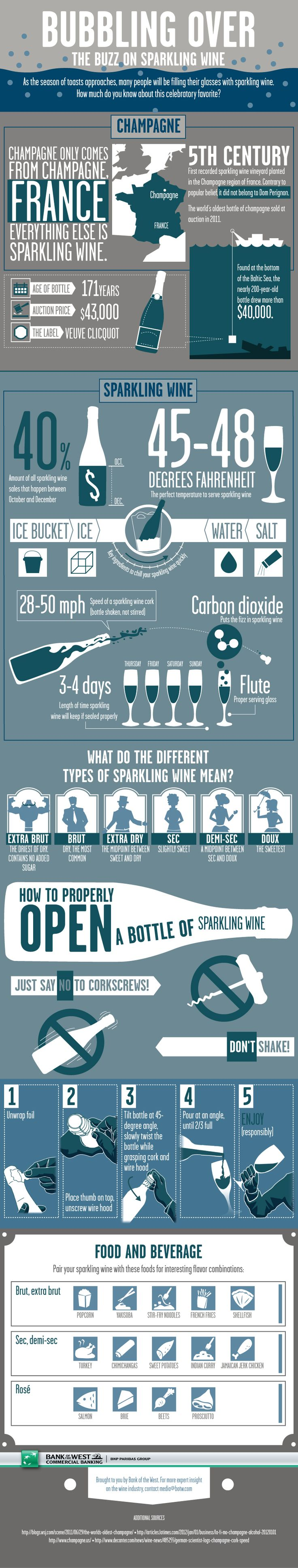 Sparkling Wine Infographic | #WineNight http://www.brioitalian.com/bar_brioso.html?view=full