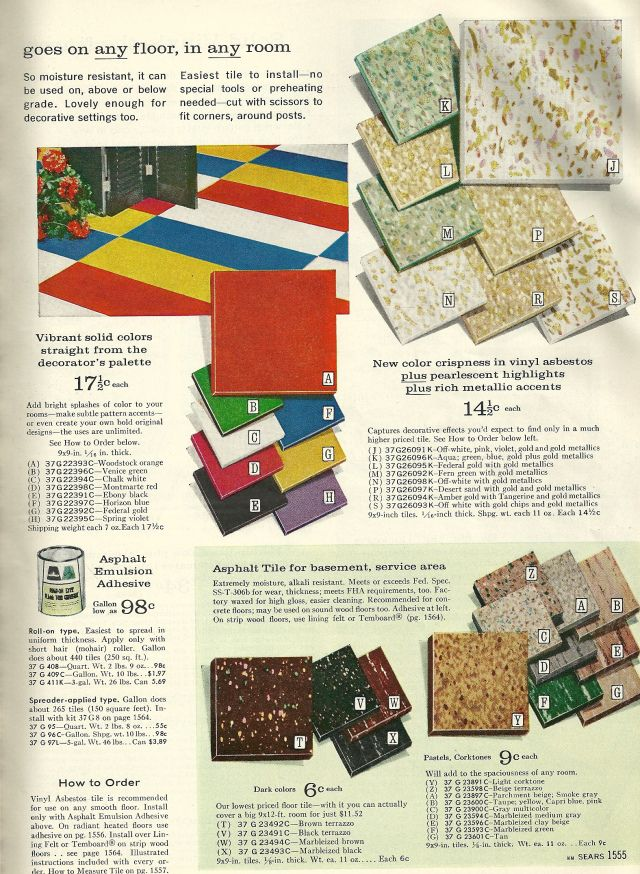 1950 S Linoleum Flooring Asbestos Retro 1950 S Vintage