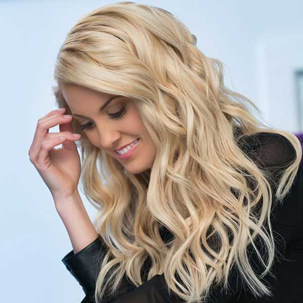 ZALA Clip in hair extensions are made from 100% Human remy hair.