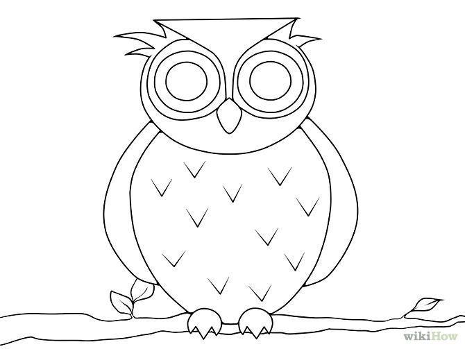 Draw An Owl Eule Zeichnung Eulen Zeichnen Malvorlage Eule