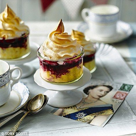 Royal dessert: Individual queen of puddings