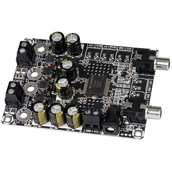 Beautyforall 2 x 15W 4 Ohm TA2024 Class D Audio Amplifier