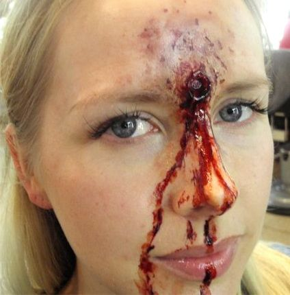 SPECIAL FX Creating a Bullet wound..