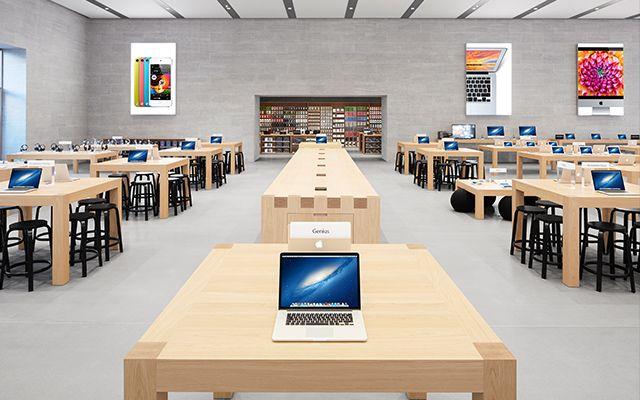 Apple Store, Berlin, Germany.