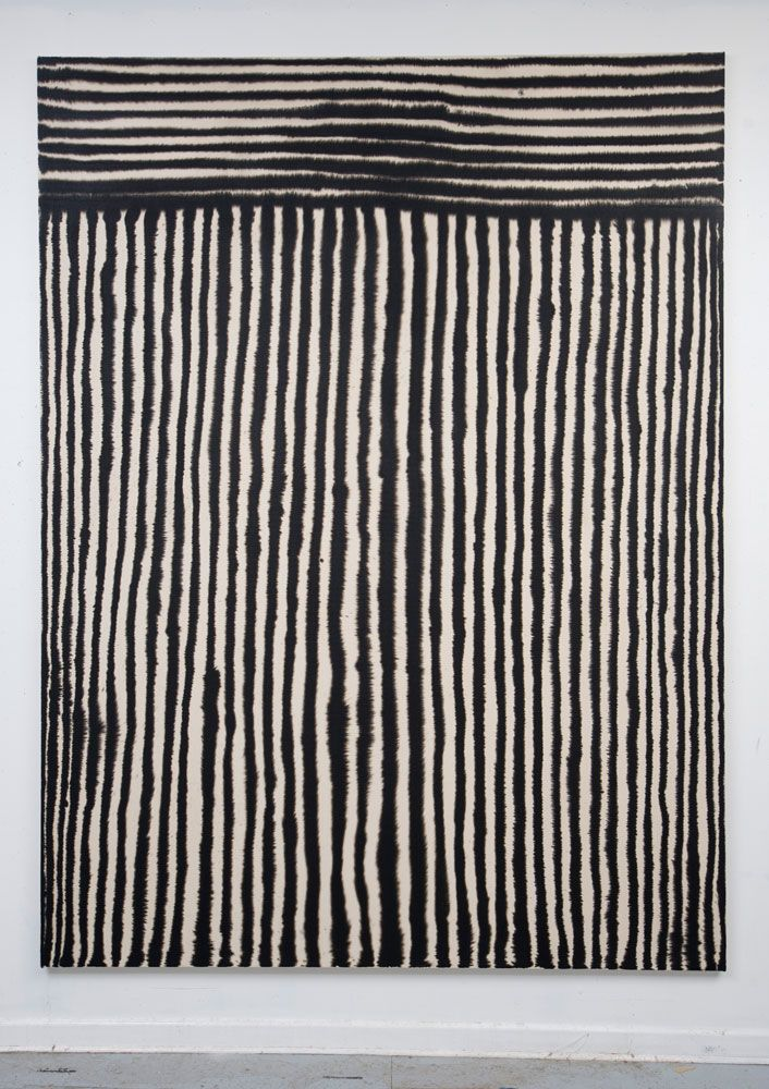 Marie-Claude Bouthillier, Mégalithe 01, 2013 Carbon and acrylic on canvas