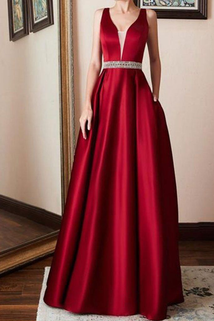 660895b1f0 Spaghetti Strap Belt Plain Evening Dresses in 2019