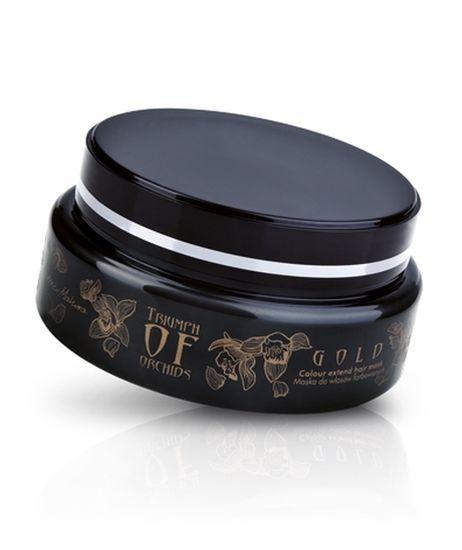 Triumph of Orchids - Zlato - Maska na barvené vlasy - vyvinuta pro komplexní péči o barvené vlasy poškozené častým kadeřnickým ošetřením - díky obsahu výtažku z afrického rooibosu a bambuckého másla zachovává barvu a brání jejímu vymývání - přírodní ochranné polymery zajistí, že vaše vlasy se budou snadněji upravovat a rozčesávat - glycerin a provitamín B5 zklidňují podráždění a chrání pokožku před vysušením, výtažek z orchideje ji posiluje - oplachuje se Objem: 200 ml