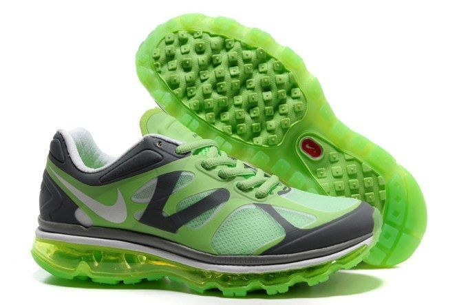 5tBEc 2013 Nike Air Max 2012 Womens Shoes Breathable Green Grey