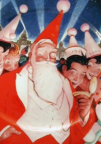 Santa as 'dandy' - William Joyce.