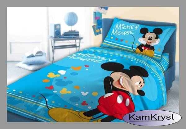 Pościel dziecięca do łóżeczka 100x135 z Myszką Miki - 100% bawełna - najnowsza kolekcja pościeli dla najmłodszych firmy Faro.