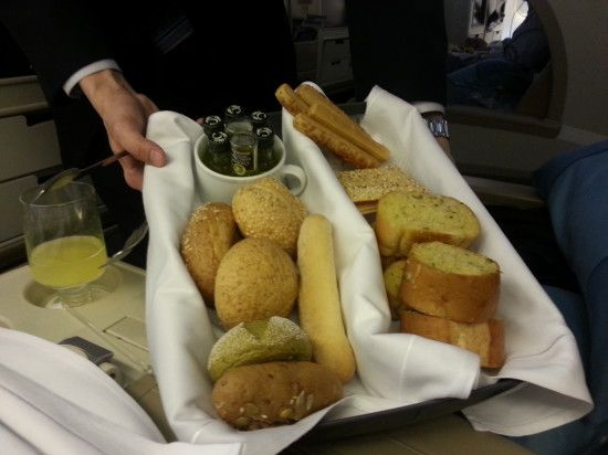 "Perhaps some bread with your meal? (Singapore Airlines ""Book the Cook"")"