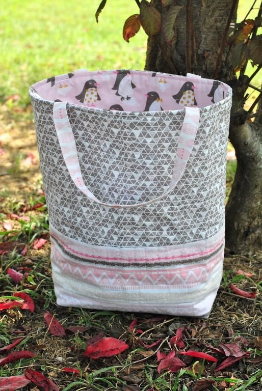 (7) Name: 'Quilting : Quilted Gift Bag Tote Pattern