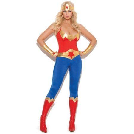 Red/Blue Miss Super Hero Costume Elegant Moments 9964 Red/Blue, Women's, Size: Medium