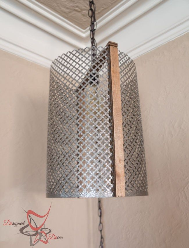 I love how this Metal Cylinder Light turned out! A few simple pieces and you can easily make your own cylinder light. by DeDe Bailey.