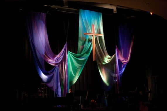 Easter Church Stage Ideas | Share this: