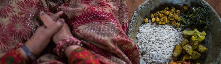Chiura o arroz inflado es consumido junto con las verduras y legumbres en zonas del Norte de la India y Nepal.