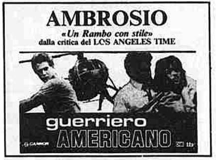 """Il fenomeno in Italia (4) Settantottesima ed ULTIMA puntata del viaggio nel cinema ninja: arriva in Italia """"Guerriero americano"""", """"Master"""" e i saggi librari #Ninja"""