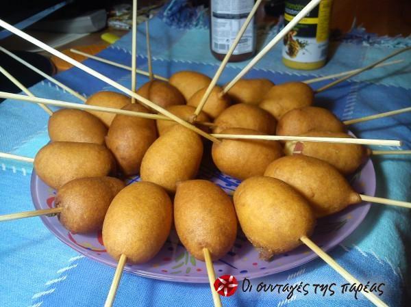 Κορν-Ντογκς #sintagespareas #corndogs #loukanika