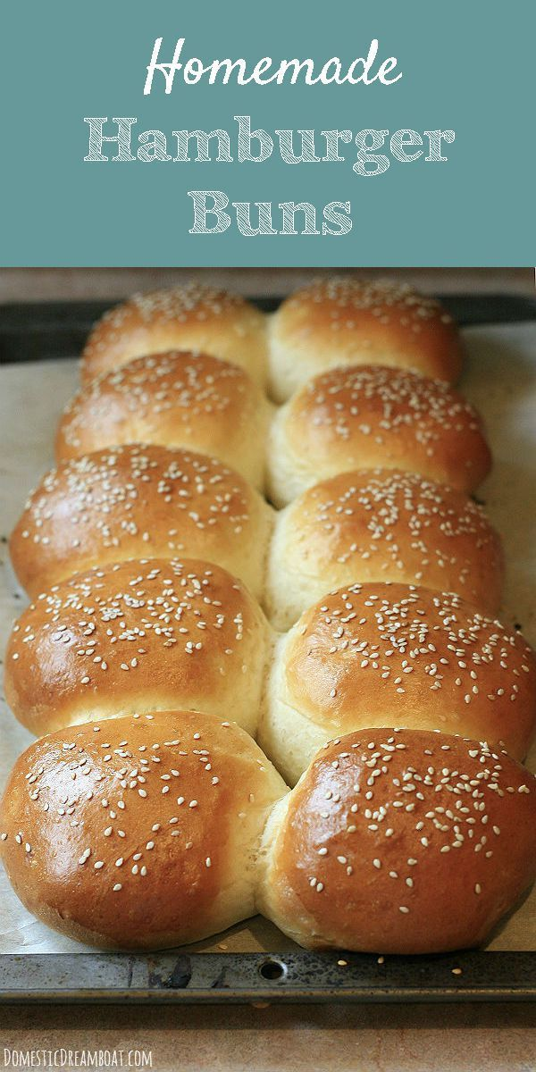 Homemade Hamburger Buns - Light and fluffy and easier than you would expect. They taste so much better than store bought!