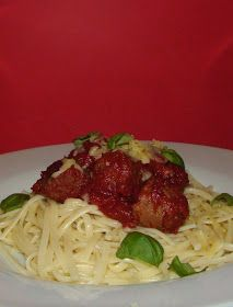 Mummy Blubber: Quorn Meatballs with Linguine