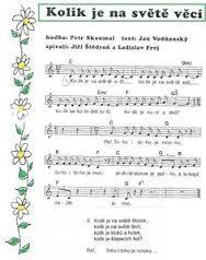 Výsledek obrázku pro noty na klavír písničky z pohádek