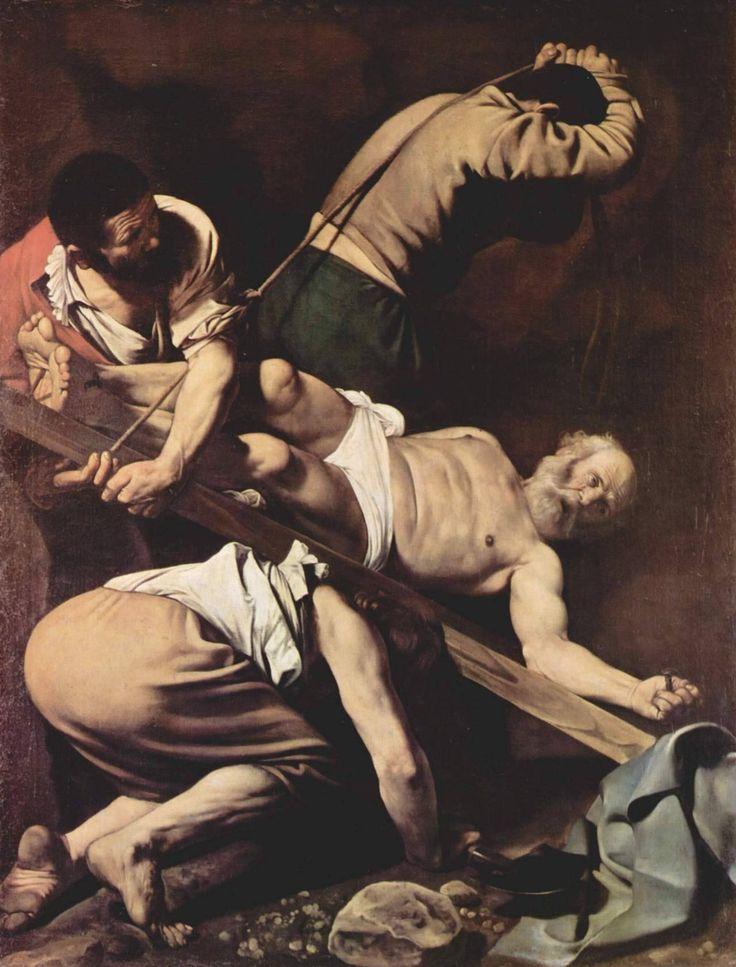 Crucifixion of Saint Peter via Caravaggio Size: 175x230 cm Medium: oil, canvas