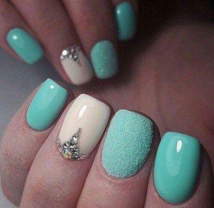 #wails #wedding #wedding #nails #pour les ongles de mariage pour un mariage turquoise magnifique …   – CONCEPTION DE CHEVEUX