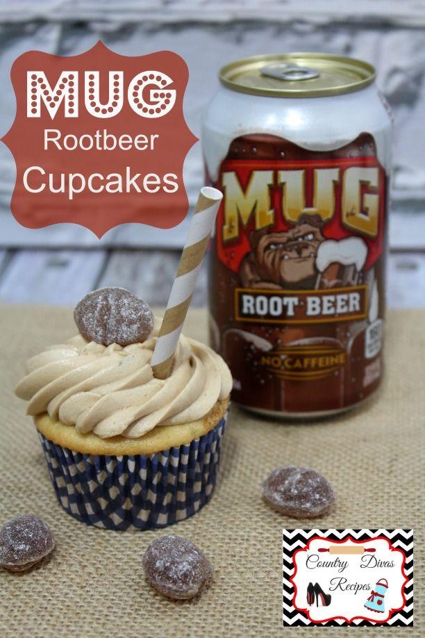 MUG Rootbeer Cupcake recipe AMAZING!!! http://www.adventuresofcountrydivas.com/root-beer-float-cupcakes/