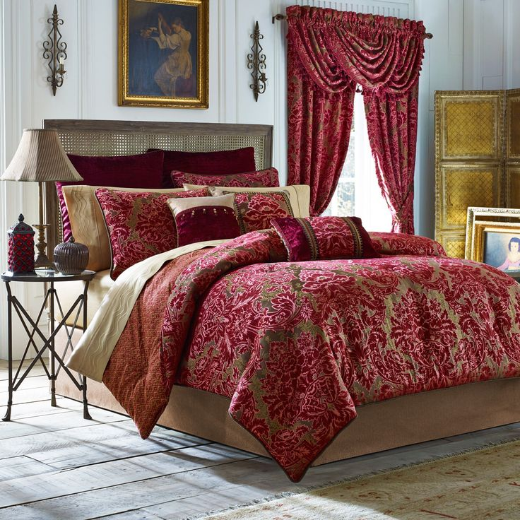 Fuchsia by croscill feminine - Bedroom comforter and curtain sets ...