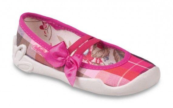 Befado Dívčí balerínky Blanca - růžové s mašličkou