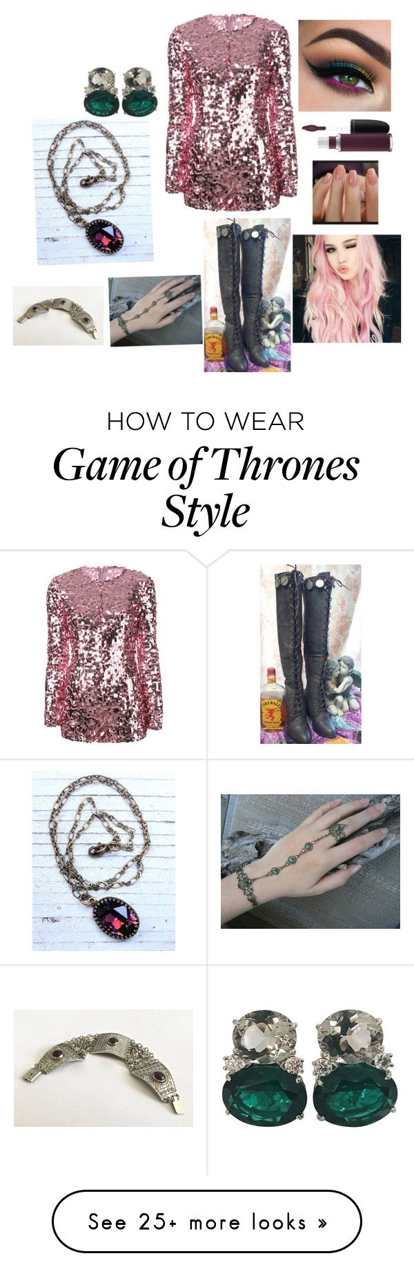 """""""Untitled #602"""" by agmccrary on Polyvore featuring Giamba, MAC Cosmetics and Christina Addison"""