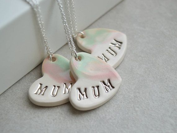 Ceramic Women/'s Sweater Chain Beads Gift Necklace Pendant Heart Shaped Jewelry