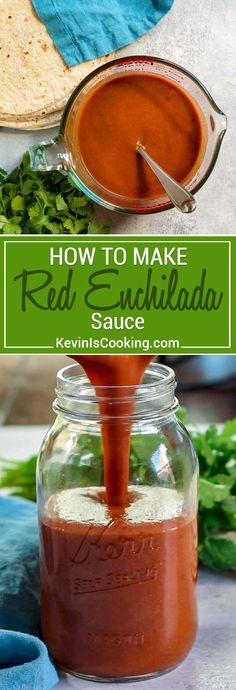 Let me show you How to Make Red Enchilada Sauce so you never have to buy canned again. It's super easy to make, and with probably all the ingredients on hand like chicken stock and warm spices, it's done in about 10 minutes. Enchiladas or chilaquiles are not far away! #enchilada #sauce #Mexican via @keviniscooking