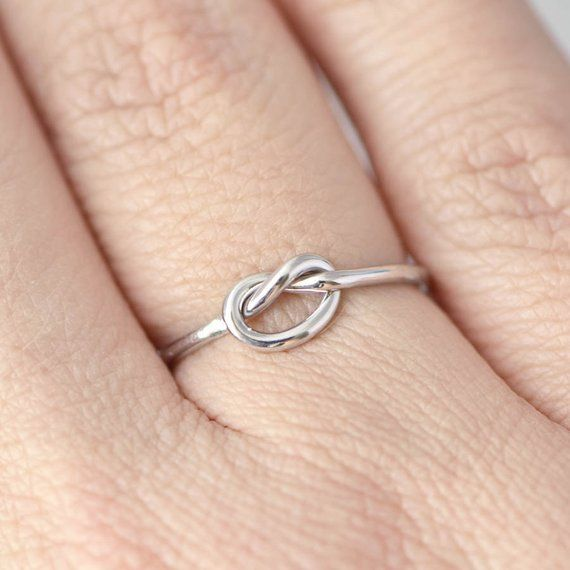 Delicate Promise Ring Stackable Ring Knotted Ring Tie the Knot Dainty Promise Ring Knot Promise Ring Gold Promise Ring