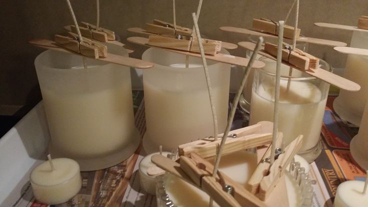Soy candles in progress
