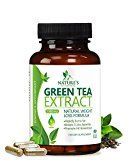 Green Tea Extract Supplement EGCG for Healthy Weight Loss  Natural Fat Burner Boosts Metabolism Promotes Healthy Heart Antioxidant Caffeine Source for Energy Organic Non-GMO  60 Capsules