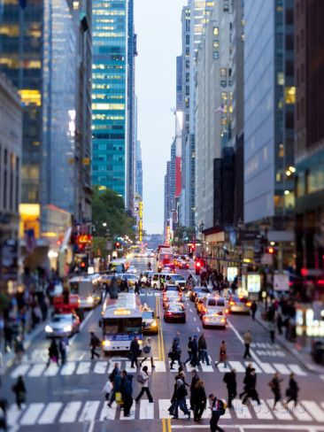 42nd Street in Mid Town Manhattan, New York City, New York, United States of America, North America Photographic Print by Gavin Hellier