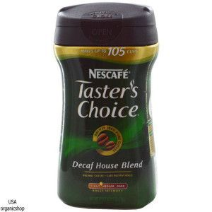 Растворимый кофе без кофеина Nescafé, Taster's Choice Instant Coffee, Decaf House Blend