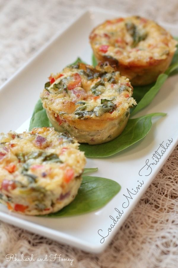 These mini frittatas with Cabot cheddar, spinach, red pepper & prosciutto are delectable! Freeze leftovers for an easy breakfast on-the-go for busy weekdays!