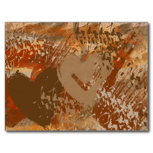 Chocolate Heart Abstract Pattern Postcard - #zazzle