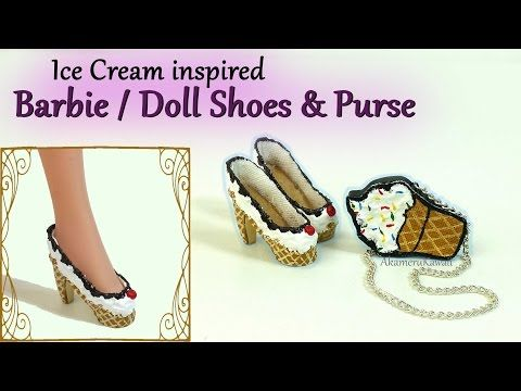 how to: ice cream inspired mini doll shoes and purse