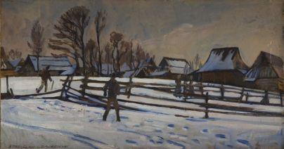 Stanisław Czajkowski - Zima na Podhalu
