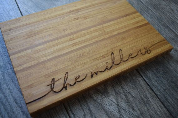 Personalized Cutting Board Wedding Gift Cutting by OurCuttingBoard