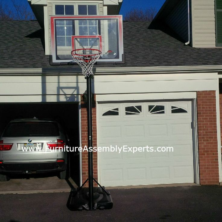 17 best images about portable basketball goals on for Basketball garage