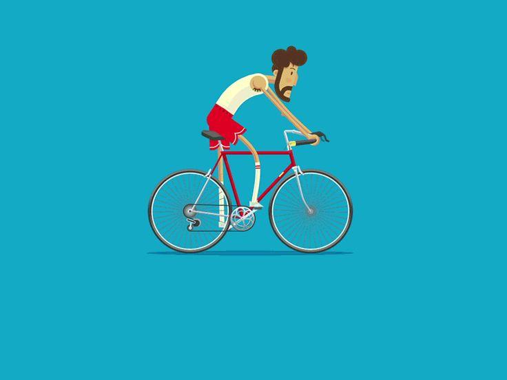 Campus Bike Rider by Guy Allen