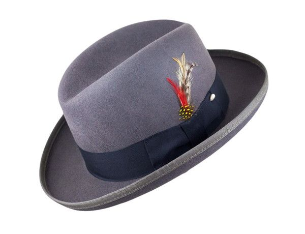 The Wool Homburg (More Colors- Horace hat option? $85 Only in Grey and black