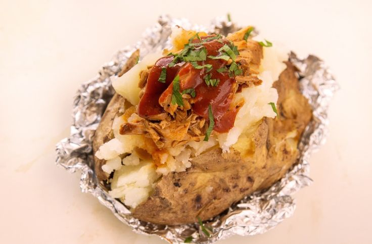 Baked Potato Stuffed with Barbecue Pulled Pork