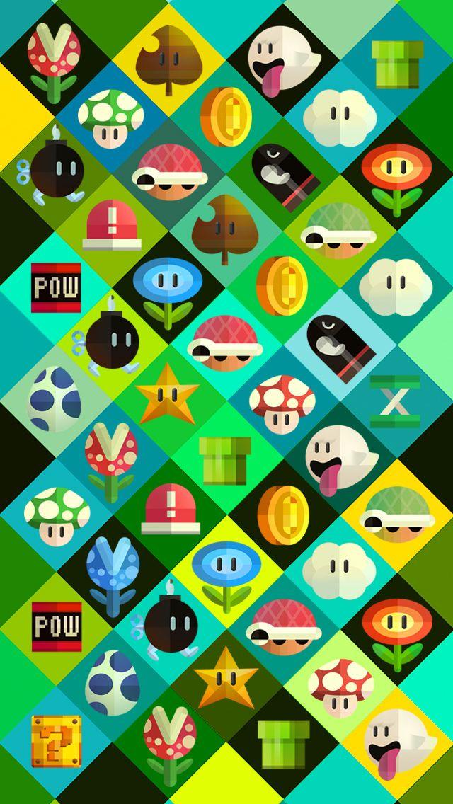Mario World iPhone 5 wallpaper W A L L P A P E R